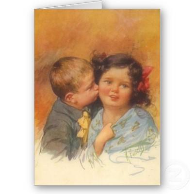 1910 postcard picture by artist Karl Feiertag.