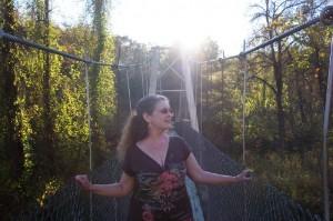 Debi on bridge