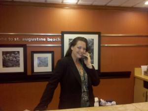 Front desk manager, Nicole S. Bonjour