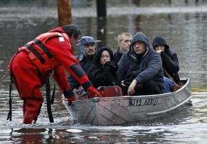 Rescue during Hurricane Sandy